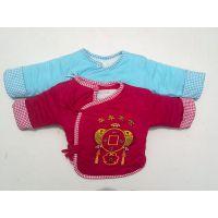 春秋新款 纯棉宝宝棉服 纯色婴幼儿半背袄 加厚婴儿棉袄 批发