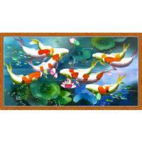 海洋水族馆动漫图案打印机 艺术玻璃瓷砖背景墙打印机厂家直销