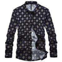 迪迪波尔2014年春季新款男士长袖印花衬衫 时尚男式衬衫