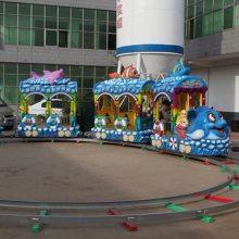 欢乐跑马车 户外儿童新款热销轨道类游乐设备轨道跑马郑州宏德游乐定制