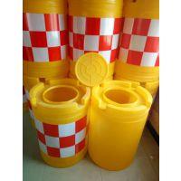 滚塑防撞桶水马厂商 塑料注水反光桶 隔离墩警示筒