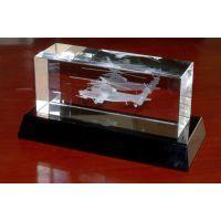 直升飞机模型水晶内雕定做,深圳水晶内雕厂家