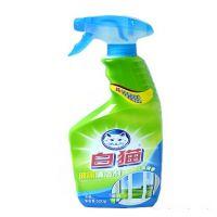 批发白猫 玻璃清洁剂 500g*20 不挂水 不起雾 不留斑