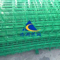 小区果园圈地养殖网三角折弯双边丝护栏网浩洲浸塑圈地绿色荷兰网