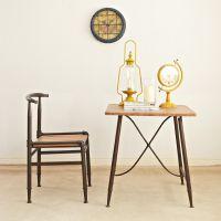 美式乡村铁艺实木家具复古酒吧餐桌椅LOFT欧式仿古咖啡桌椅小方桌