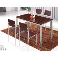 快餐店桌椅板式餐厅桌子简约家用吃饭桌 方形桌子椅子组合批发