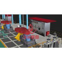 生产线动画 水利电力GIS 工业仿真设计制作