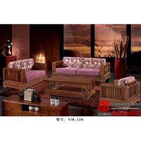 鑫顺兴老榆木古典家具沙发组合实木客厅家具YM-238