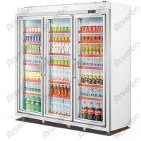 便利店冷柜、平头分体饮料展示柜、3门展示饮料冷藏冷冻冰箱