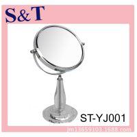 广东亚克力化妆镜生产厂家 浴室镜子 可折叠的台式单面镜子