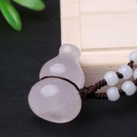 正品天然粉水晶葫芦吊坠 招桃花 旺姻缘 美容养颜水晶饰品