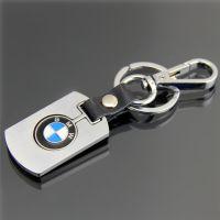 高档商务礼品精致车标钥匙扣宝马汽车男士腰挂钥匙圈链可定制logo