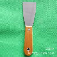 临沂批发高档2寸木柄镜面油灰刀抹泥刀清洁小铲刀 刮刀 匠作工具