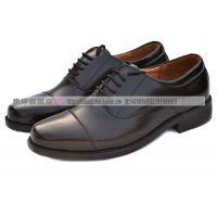 3515强人07A/07B男校尉三接头jun官皮鞋 07商务真皮皮鞋三接头皮鞋