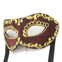 化妆舞会面具,万圣节表演道具威尼斯风格半脸PVC塑料面具