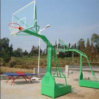 东莞康腾学校小区移动广东篮球架 单臂比赛凹箱篮球架 钢化玻璃篮板