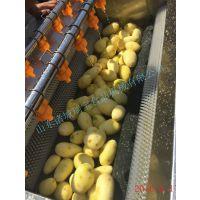 土豆去皮清洗机 大批量土豆去皮方法 鲜土豆磨皮设备