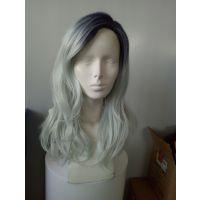 供应名仕渐变发 隐形假发 时尚瑞丽 彩色头套假发 长卷发 黑色