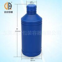 HDPE药用1L溶剂瓶 耐腐蚀酸碱 化工包装1000ml塑料瓶