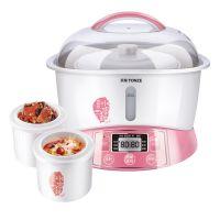 Tonze天际 GSD-W122B陶瓷电炖锅白瓷电炖盅煲汤隔水炖 一锅三胆