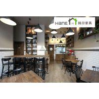 供应上海咖啡厅实木圆桌 复古实木圆桌定制