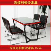 【厂家供应】实木餐桌椅组合 饭店餐厅户外农家乐桌椅现货特价
