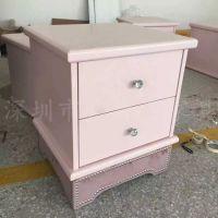 厂家定制 欧式现代实木储物柜 酒店床头柜 精美床头柜