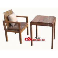 达芬家具专业供应品牌连锁餐厅复古实木卡座桌椅4006962114