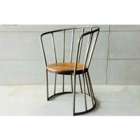新品推荐 海德利美式LOFT桌椅组合 餐厅休闲实木餐桌椅组合批发