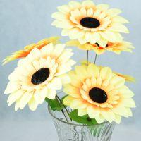 7头13cm太阳花塑料假花 气氛布置用品仿真植物 客厅家居装饰花束