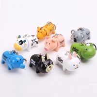韩版创意动物造型伸缩圆珠笔钥匙扣挂件办公用品学习卡通可爱文具