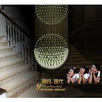 专业订做非标酒店工程水晶灯 楼梯吊灯 大客餐厅房吊灯灯饰灯具