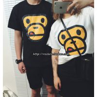 2015夏季新品女装姐妹装 韩版猴子印花短袖 闺蜜套头T恤女 批发