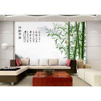 千彩墙布 个性无缝墙布墙纸 客厅背景墙壁画 竹报平安 厂家定制一件代发