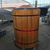 宏燊厂家制作【仿古木制酿酒蒸锅】 100升成套粮食造酒设备