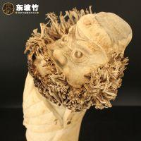精品名家木雕根雕作品竹根雕摆件钟馗中国特色传统民间手工艺术品