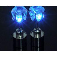 LED灯电子发光耳钉 JL时尚耳钉 锆钻耳钉