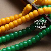 厂家直销 蜜蜡筒珠合成琥珀 藏式桶珠 鼓珠diy菩提佛珠隔珠配件