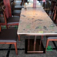 天然大理石餐桌 餐厅桌椅 专为高端餐饮连锁定制
