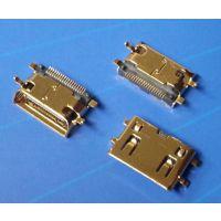 迷你MINI HDMI 19P斜口 沉板1.5镀金外壳