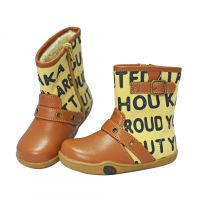 2015冬款棉靴  时尚英文字母设计   简单舒适童靴  日本原单