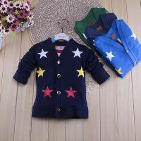 外贸童装 男女童针织衫 2015韩版春秋新款 儿童开衫外套批发