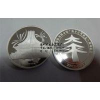 纯银纪念币定制厂家 纯金纪念章订制