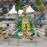 供应郑州莱恩斯新款旋转类儿童游乐设备直径9米旋转小蜜蜂