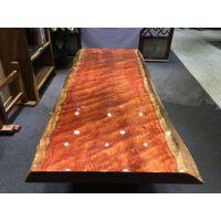 巴花大板217×92×10水波纹实木红原木高档红木家具茶几厂家特价拾木者可做餐桌会议桌画案等