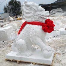 石雕麒麟大型汉白玉麒麟镇宅雕刻厂家定做