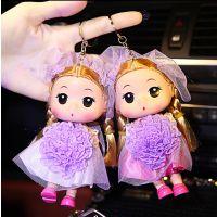 14CM超短裙芭比娃娃迷糊娃娃手机挂件礼品蛋糕模具婚庆道具钥匙扣