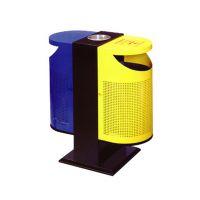 供应麦穗P-P101冲孔分类垃圾桶广州深圳大学高中中专学校专用分类垃圾桶定制