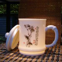 唐龙陶瓷办公茶杯定做厂家,高档礼品水杯,公司福利会议茶杯