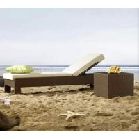 outdoor rattan chaise lounge chair
